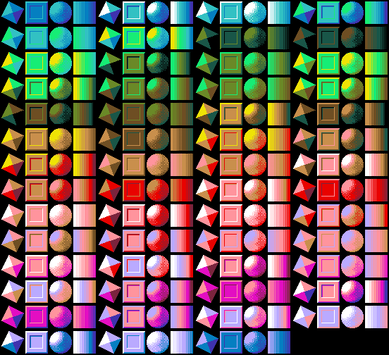 Heres What It Came Up With Using The 16 Color Palette Some Of These Seem A Bit Off Particularly Pale Violet And Red Ones But Otherwise Most Look